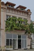 image of corbel  - Interesting old building facade in Ruse town - JPG