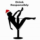 foto of responsible  - Concept Of Responsible Drinking During The Holiday Season - JPG