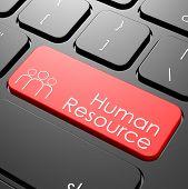 picture of keyboard  - Human resource keyboard image with hi - JPG