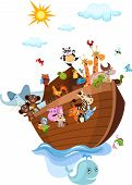 picture of noah  - vector illustration of a Noah - JPG