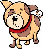 stock photo of spotted dog  - Cartoon Illustration of Cute Spotted Dog or Puppy - JPG