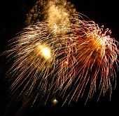 picture of big-bang  - three big explosions of the fieworks during the celebration - JPG