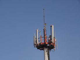 picture of lightning-rod  - Transmitter of mobile telephony - JPG