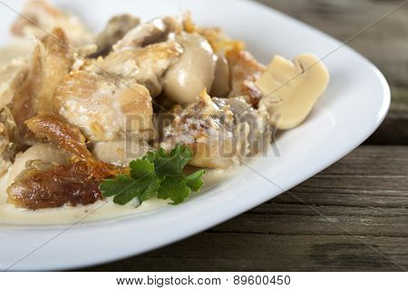 Stew Chicken In A Creamy Sauce
