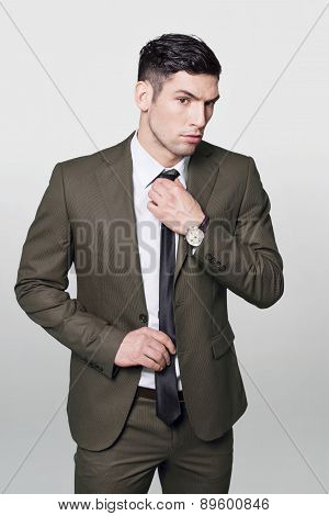 Businessman`s tie
