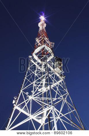 Illuminated Broadcast Tower