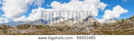 Panorama View Of The Alps Above Aletschgletscher