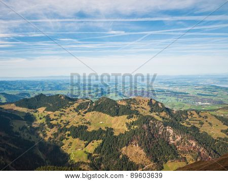 Autumn View Of Swiss Alps In Lucerne Region