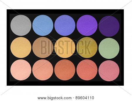 Set Of Eyeshadows Isolated On White Background