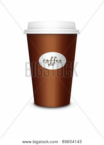 Disposable Cup Isolated Over White Background