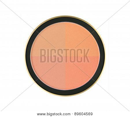 4 Color Face Powder Isolated On White Background