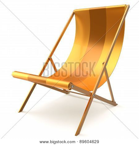 Beach Chair Yellow Chaise Longue Nobody Relaxation Abstract