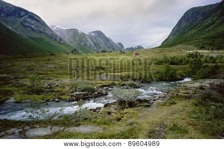 Valley in the mountains, Norway