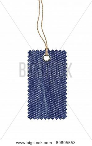Jeans Tag Isolated On White