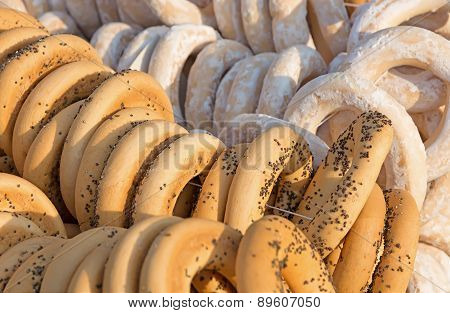 Bagels With Poppy Seeds And Sugar.