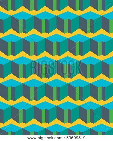 Colorful Geometric Flat Seamless Pattern. Background Vector Illustration Or Geometric Mosaic Documen