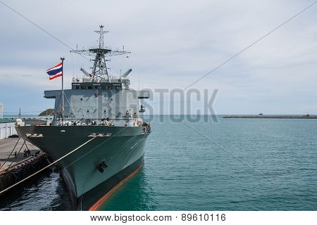 Chonburi, Thailand - May 11: The Fast Frigate ,ff Battle Ship Was Shown For Thai People And Tourist