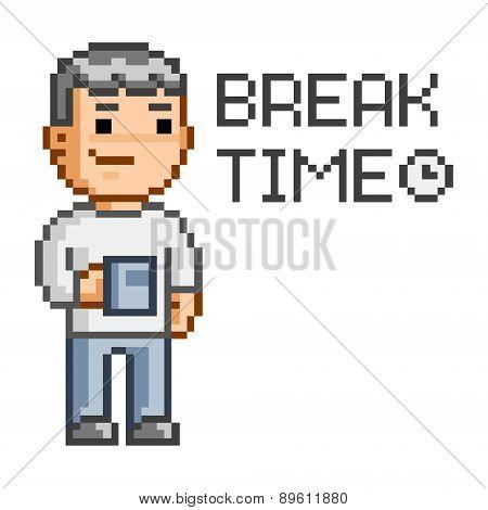 Pixel art Break time