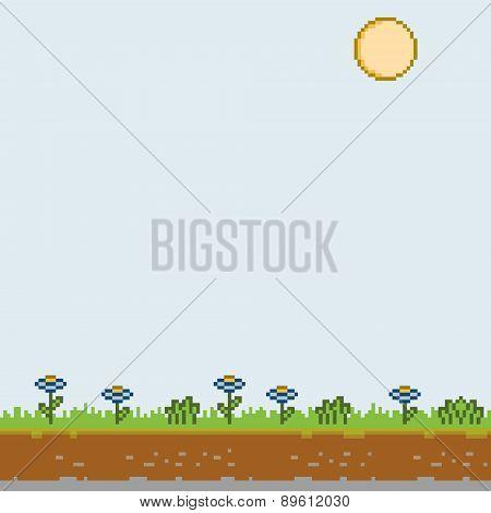 Pixel art sunny day