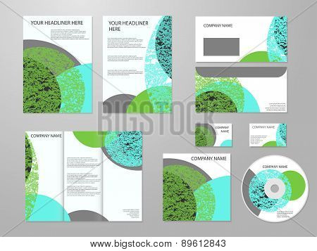 Professional corporate identity or business kit with geometric abstract design for your business inc