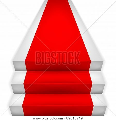 Red Carpet On Stairways