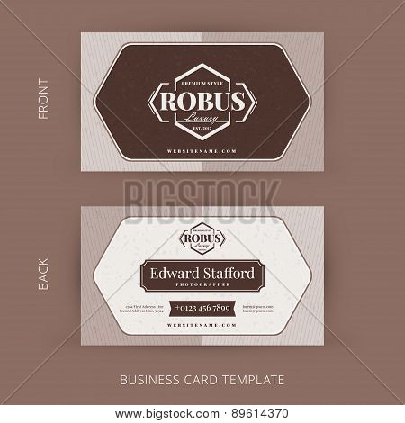Vector Modern Creative And Clean Business Card Template. Retro Design