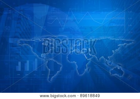 Global Business Concept Background, Elements Of This Image Furnished By Nasa