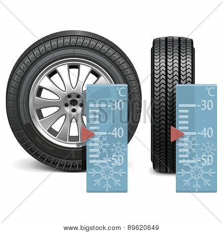 Vector winter tire