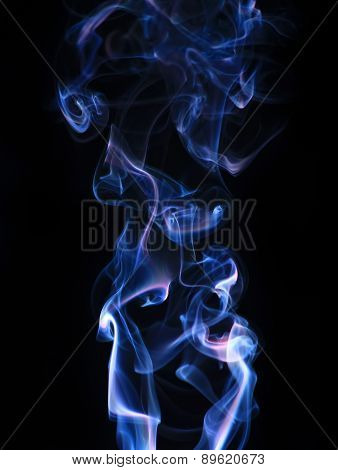 Wavy smoke pattern photo