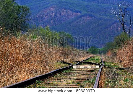 old railway line in the mountains