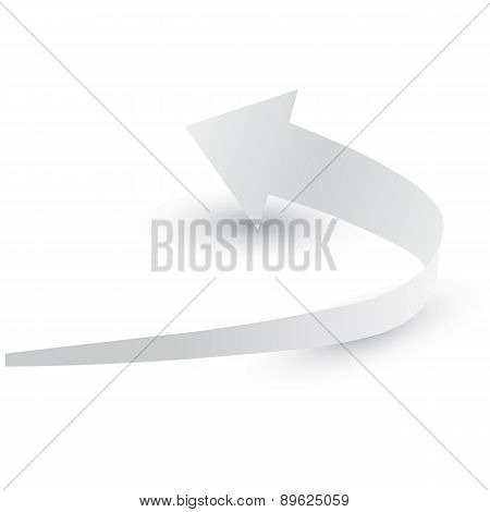 Origami arrow paper,  vector illustration.