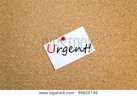 Sticky Note Urgent Concept