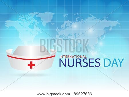 Generated Image Nurse Cap On Blue Background.