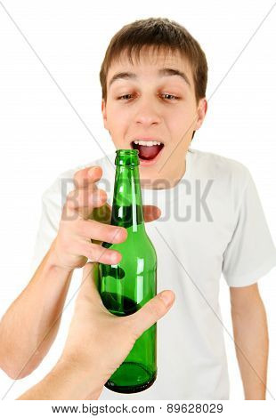 Teenager Take A Beer