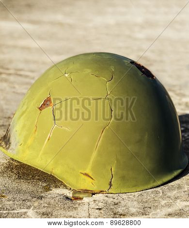 Green War Helmet