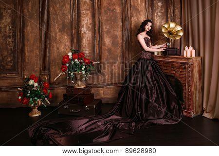 Beautiful woman retro portrait