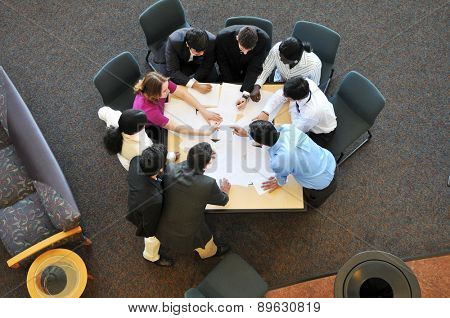Diverse group of business people during a meeting