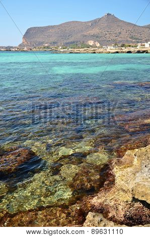 Sea And The Castle On Favignana Island