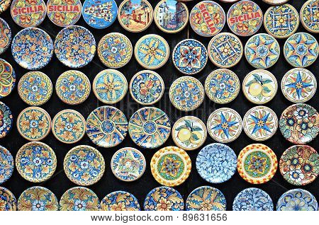 Typical Sicilian Pottery