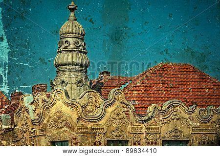 Old Postcard Of One Historical Building.timisoara, Romania 29