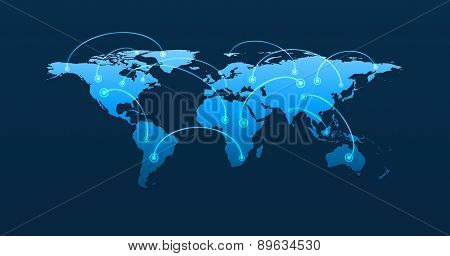 Global Business Connection Concept, Elements Of This Image Furnished By Nasa