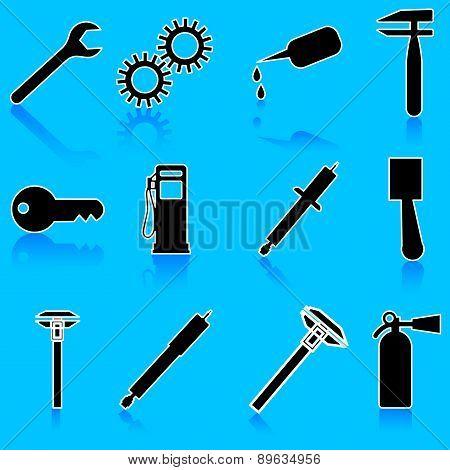 Auto Car Repair Service Icon Symbol