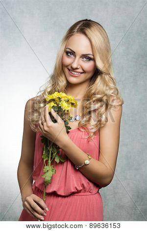 Happy Spring Flower Girl