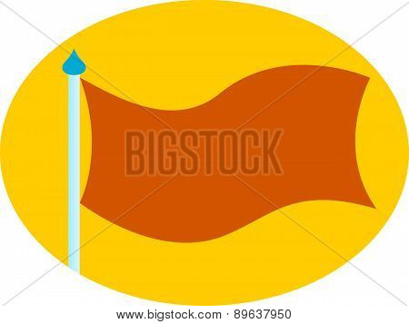 Neutral blank flag yellow & orange
