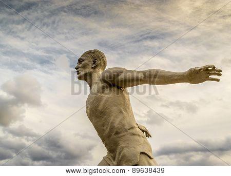 Stone Statue Runner Man