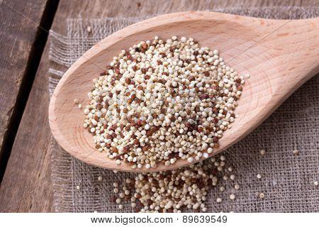 Quinoa On The Wooden Desk