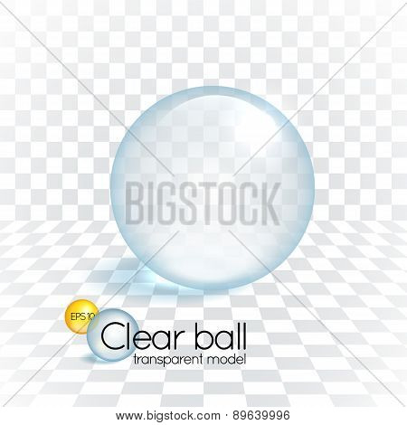 Clear glass transparency sphere