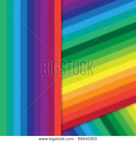 Distorted Vertical Colorful Stripes