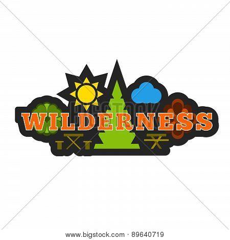 Wilderness Badge Sticker Or Logo.