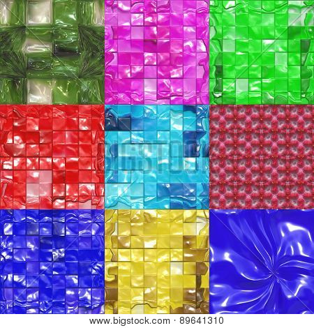 Set of Sweet Candy Textures